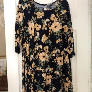 Allison Brittney floral T-shirt dress